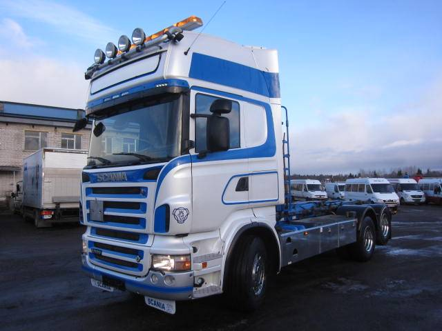 Scania R500 6x2, Konksliftveokid, Transport