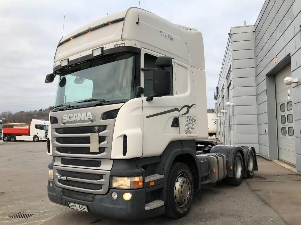 Scania R 420 LA6x2MNA, Dragbilar, Transportfordon
