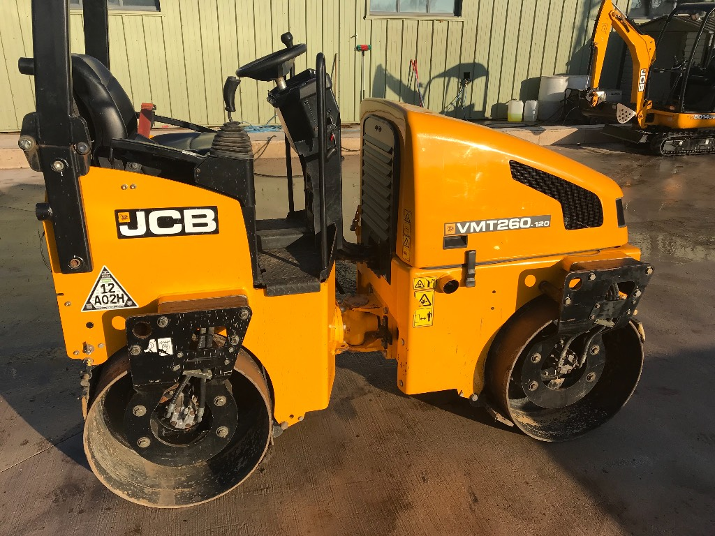 JCB VMT260-120, Twin drum rollers, Construction