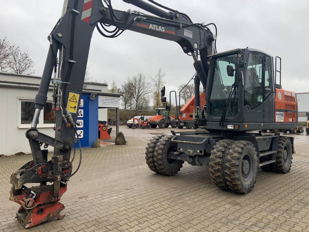 Atlas 160 W, Mobilbagger, Baumaschinen