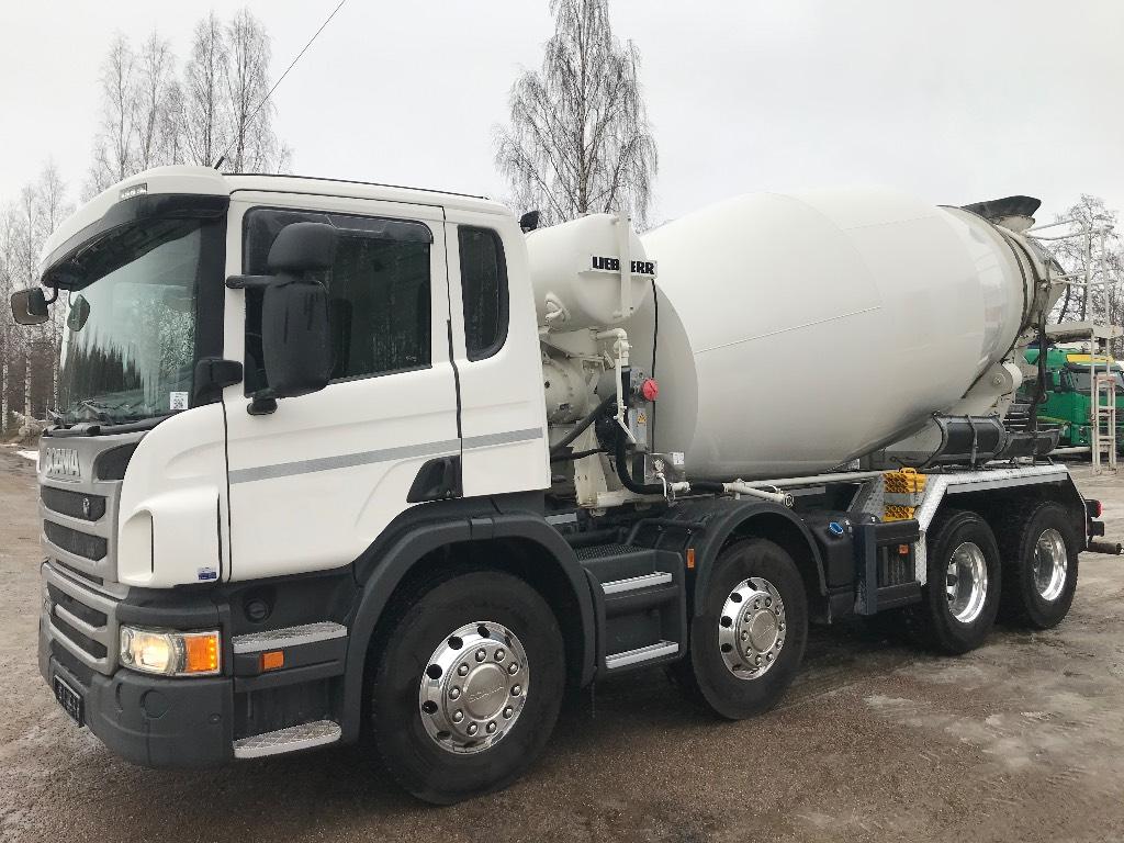 Scania P410 8x4 -17 9m3 mikseri, Betonikuorma-autot, Kuljetuskalusto