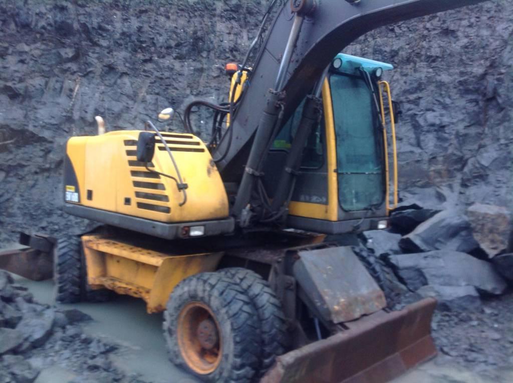 Volvo EW 160 B, Wheeled excavators, Construction