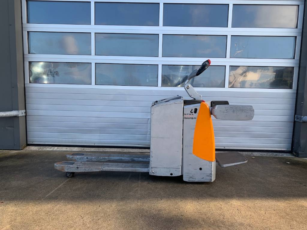 Still 2.0 ton elektrische palletwagen Still EXU-SF20, Pallettruck met meerij platform, Laden en lossen