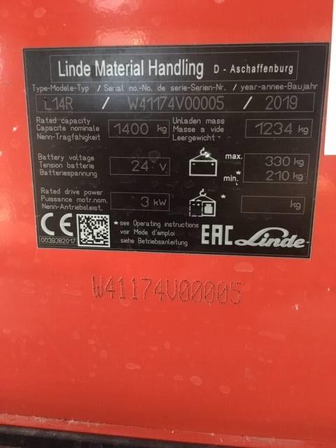 Linde L14R/1174, Platvormiga virnastajad, Materjalikäsitlus