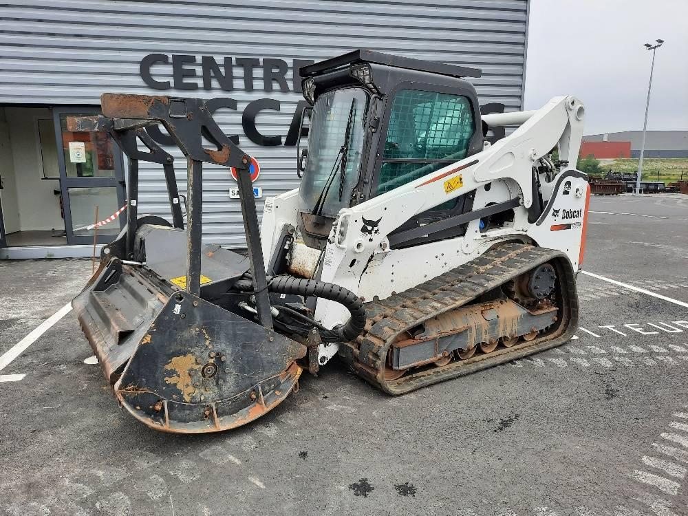 Bobcat T770 + BROYEUR FORESTIER, Crawler Loaders, Construction Equipment