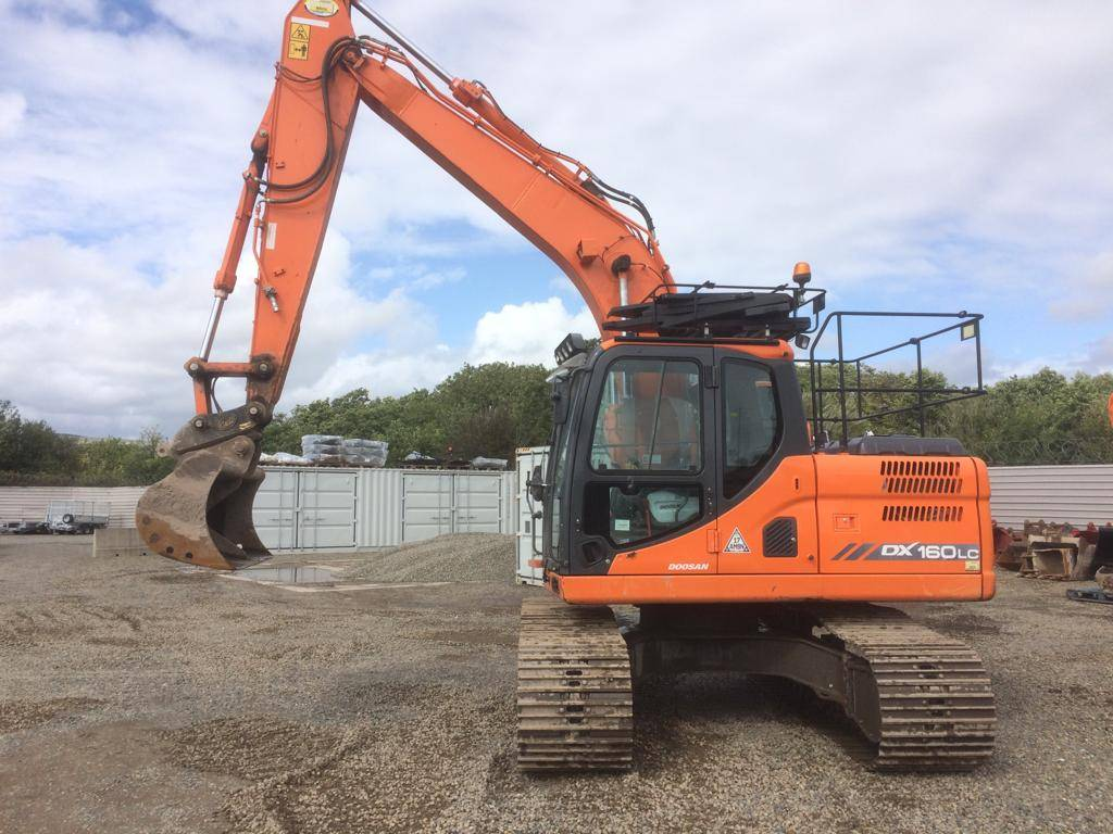 Doosan DX 160 LC, Crawler Excavators, Construction Equipment