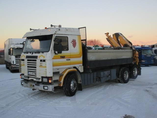 Scania R143ML 6X2L 40050B EFFER 10000 L 3S, Kraanaga veokid, Transport