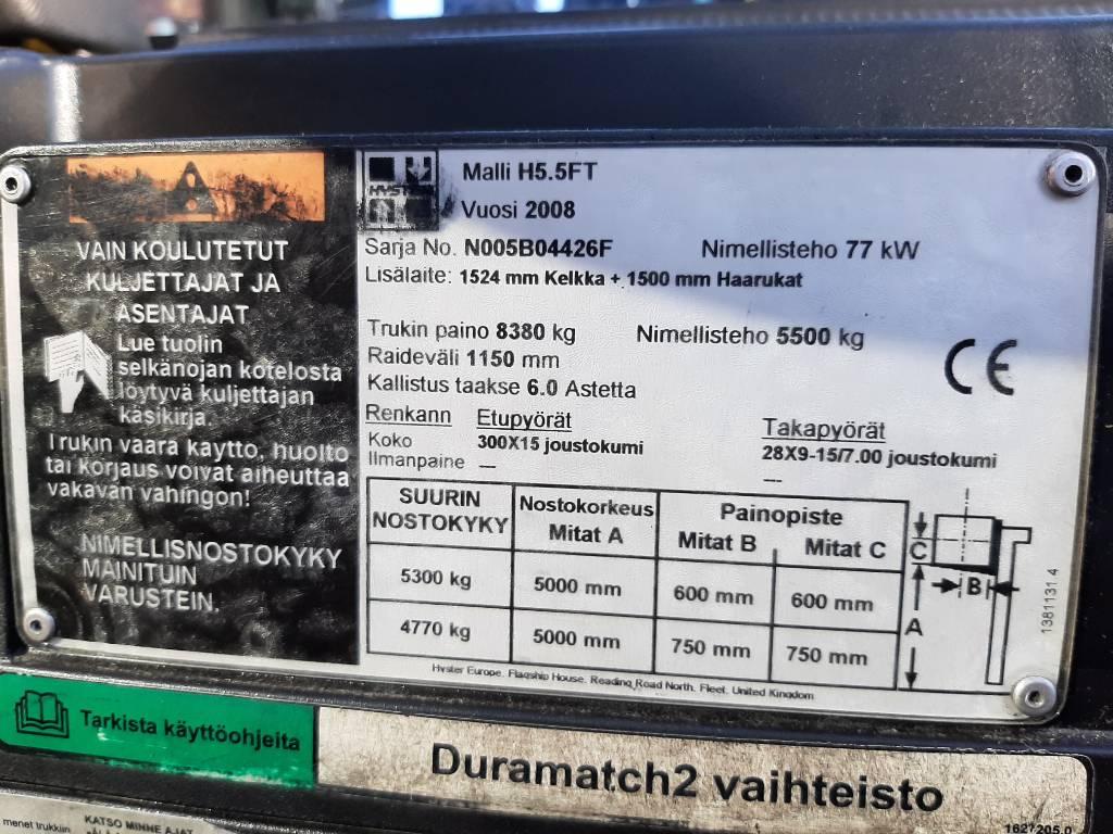 Hyster H 5.5 FT, Nestekaasutrukit, Materiaalinkäsittely