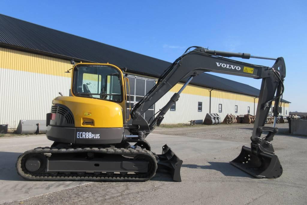 Volvo ECR88 Plus grävmaskin, Midigrävmaskiner 7t - 12t, Entreprenad