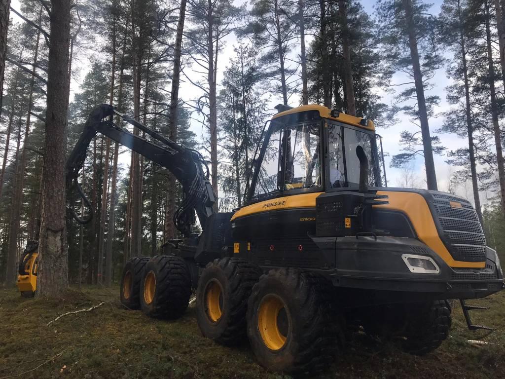 Ponsse Ergo 8W, Harvesters, Forestry