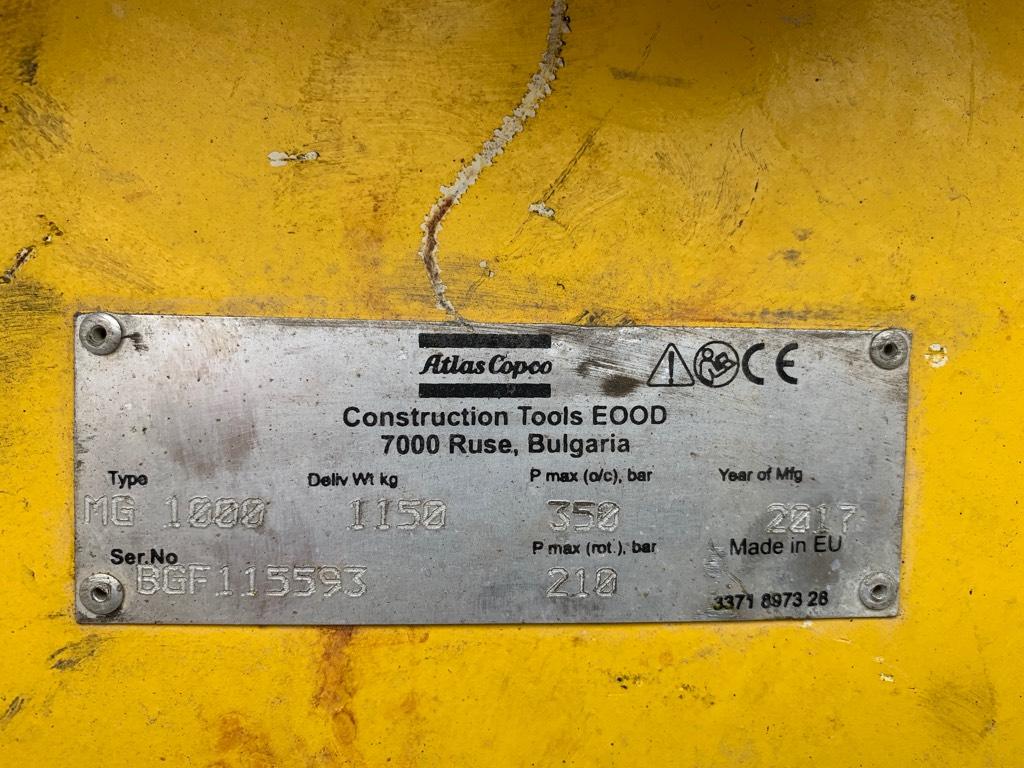Atlas Copco MG 1000, Kourat, Maarakennus