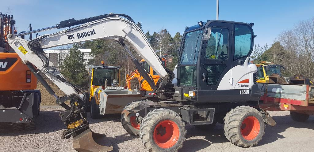 Bobcat E 55 W, Hjulgrävare, Entreprenad