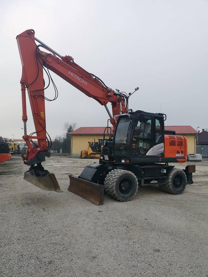 Hitachi ZX140W, Wheeled Excavators, Construction Equipment