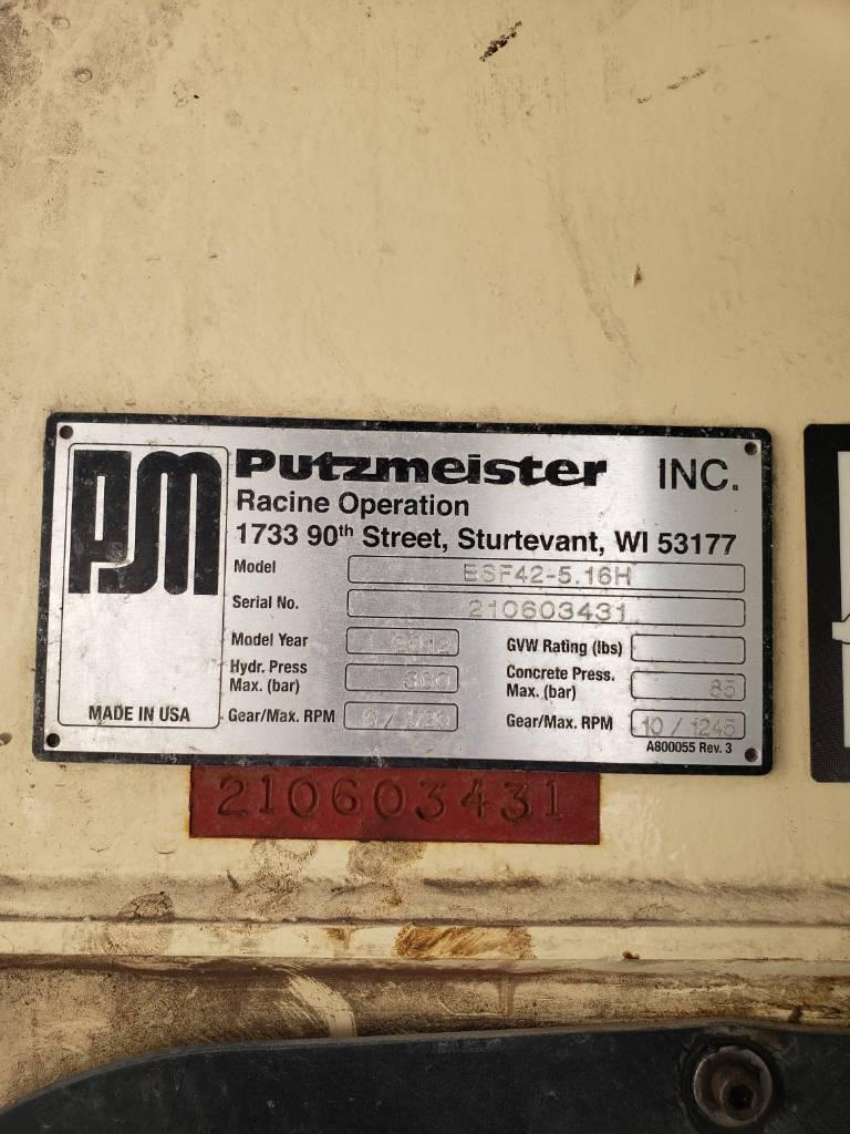 Putzmeister BSF 42Z.16H, Boom Pumps, Construction Equipment