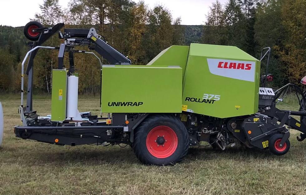 CLAAS Rollant 375 Uniwrap, Rundbalspressar, Lantbruk