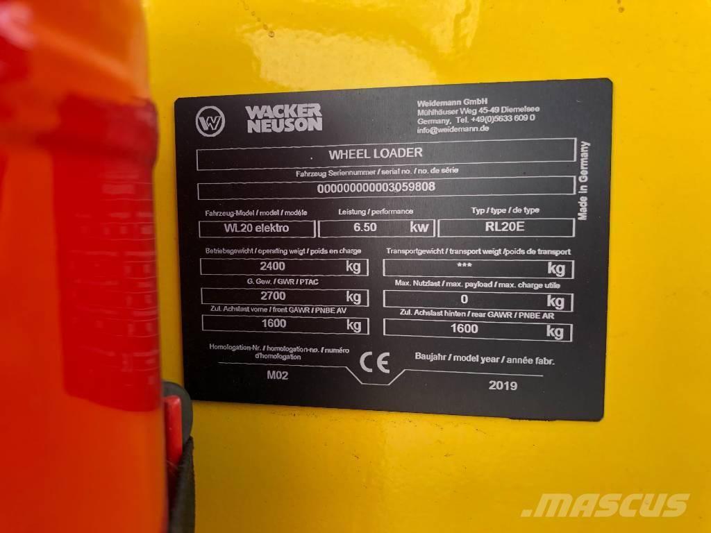 Wacker Neuson WL20e, Pyöräkuormaajat, Maarakennus