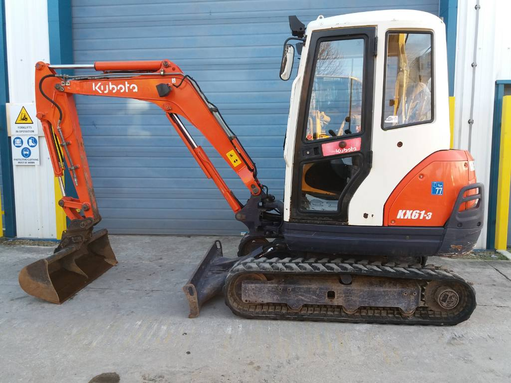 Kubota KX61-3, Mini excavators, Construction Equipment