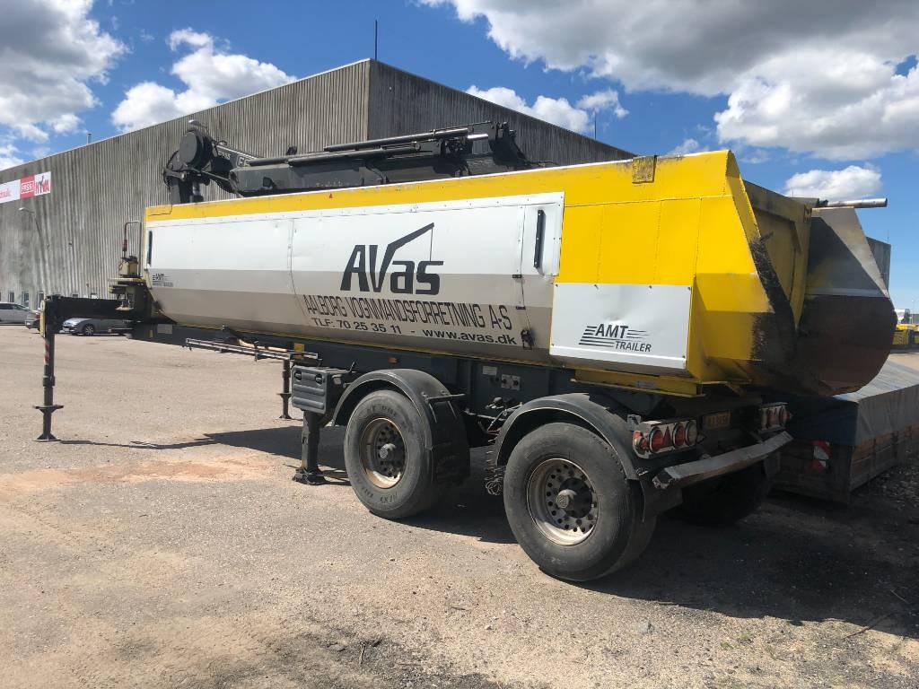 AMT 2 akslet 24m3 asfalt tiptrailer med kran, Semi-trailer med tip, Transport
