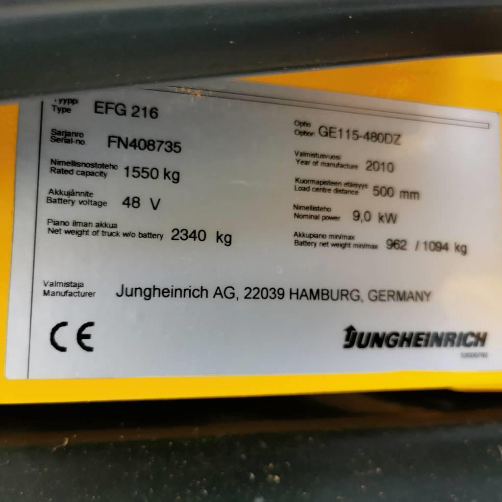 Jungheinrich EFG 216 Vuokralla, Sähkötrukit, Materiaalinkäsittely