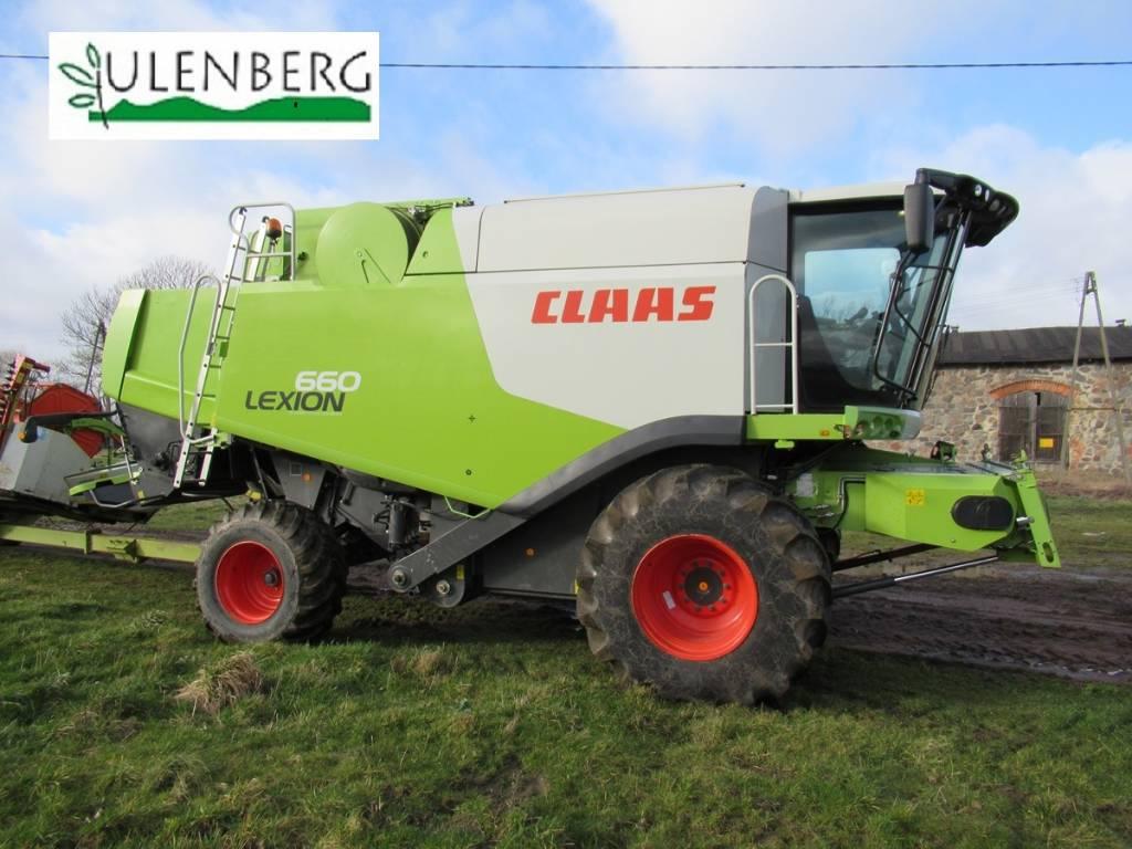 CLAAS Lexion 660 +C750+STÓŁ+w.transportowy, Kombajny zbożowe, Maszyny rolnicze