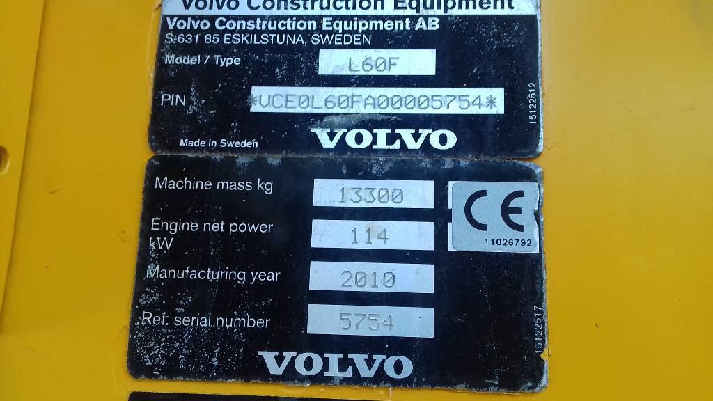 Volvo L 60 F, Cargadoras sobre ruedas, Construcción