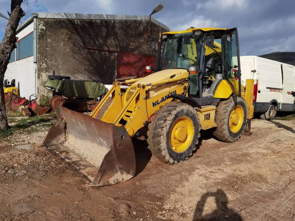 Komatsu WB97S-5, Backhoe Loaders, Construction Equipment