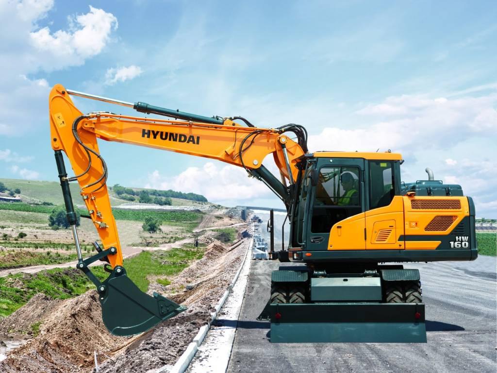 Hyundai HW160, Hjulgrävare, Entreprenad