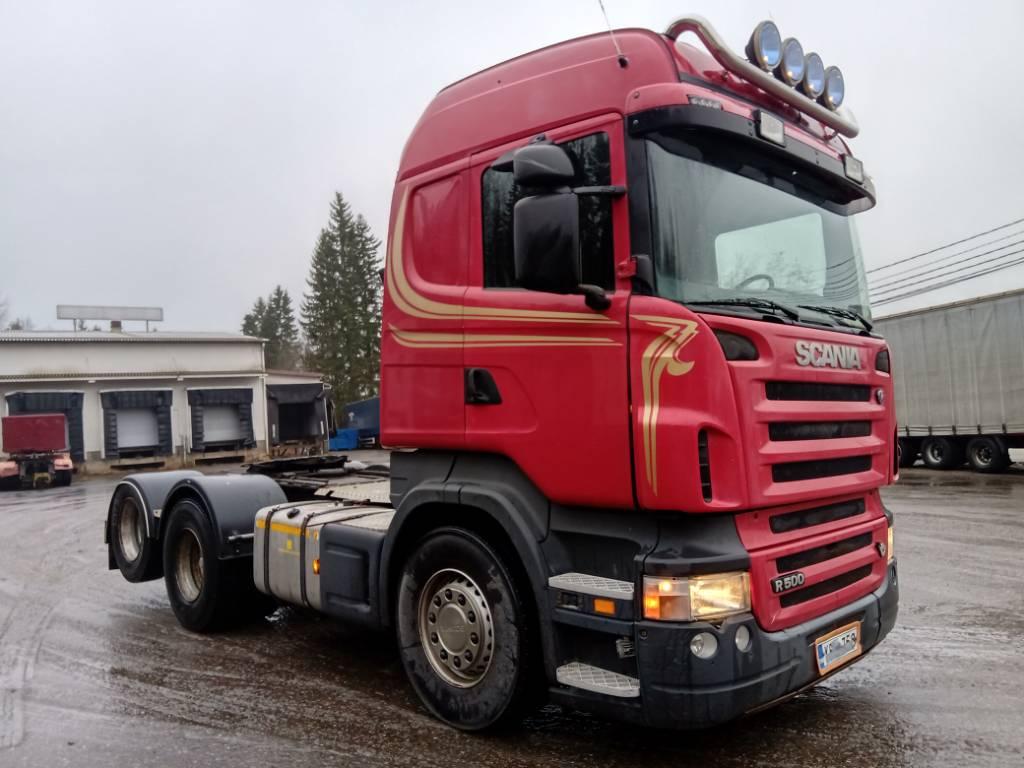 Scania R500 6x2 takateliveturi, hydrauliikka, paperikieko, Vetopöytäautot, Kuljetuskalusto