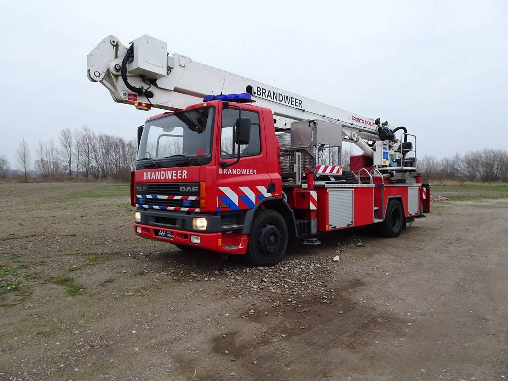 DAF 75-270 ATI Bronto Skylift F24, Fire trucks, Transportation