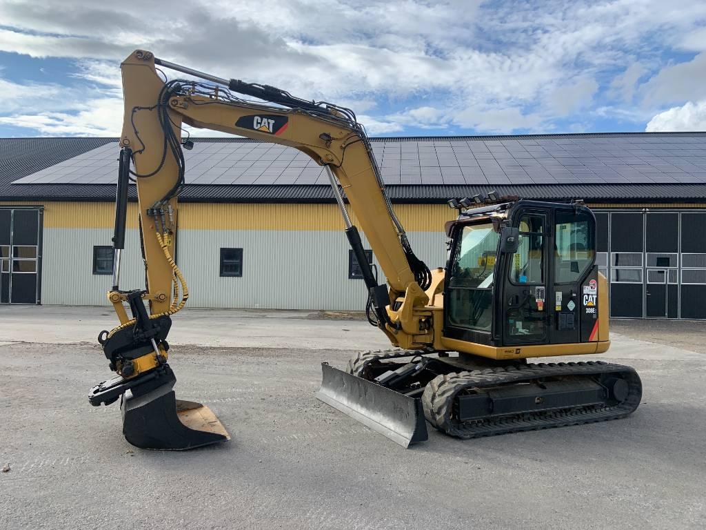 Caterpillar 308E CR grävmaskin, rototilt med grip, Midigrävmaskiner 7t - 12t, Entreprenad