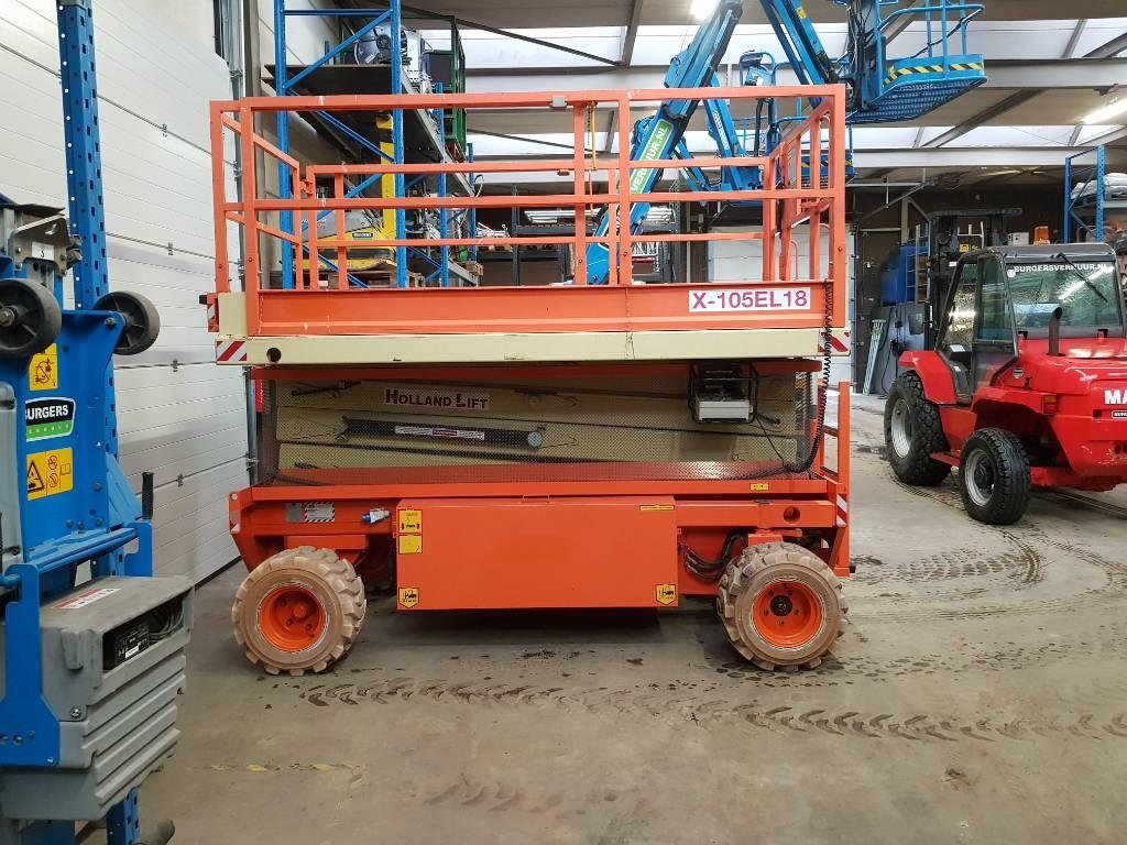 Holland Lift X 108 EL 18, Schaarhoogwerkers, Bouw