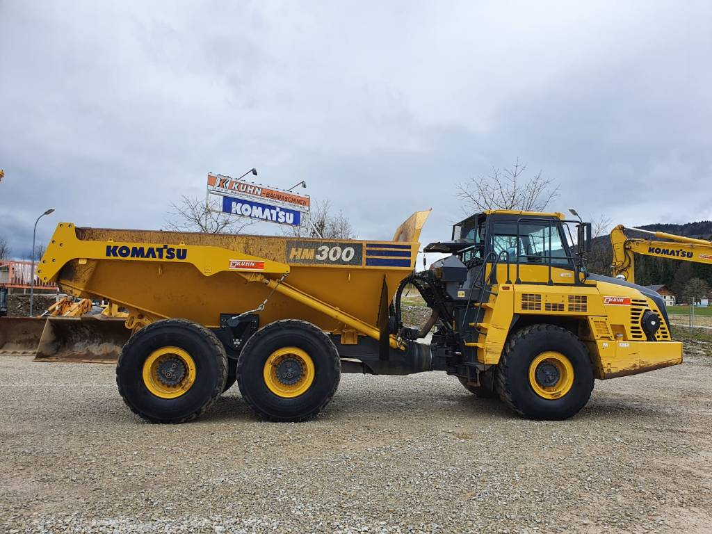 Komatsu HM300-5, Articulated dump trucks, Construction Equipment