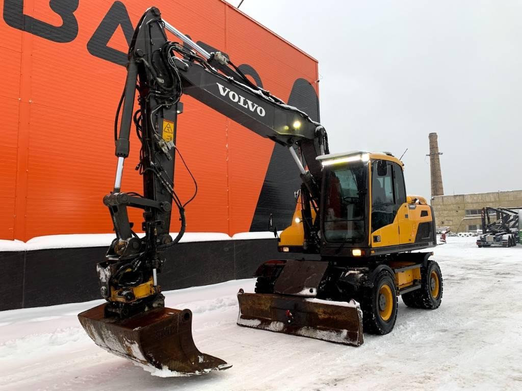 Volvo EW 160 D Rototilt, webasto, Wheeled Excavators, Construction Equipment