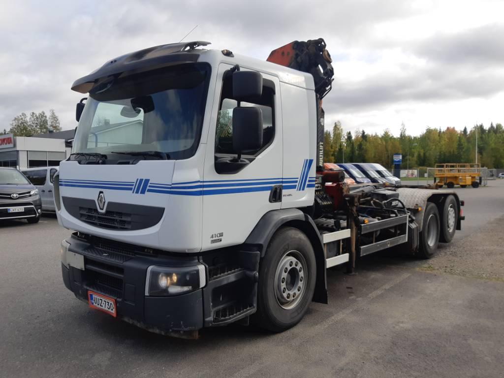 Renault Premium 410 6x2 nosturi + koukku, Nosturiautot, Kuljetuskalusto