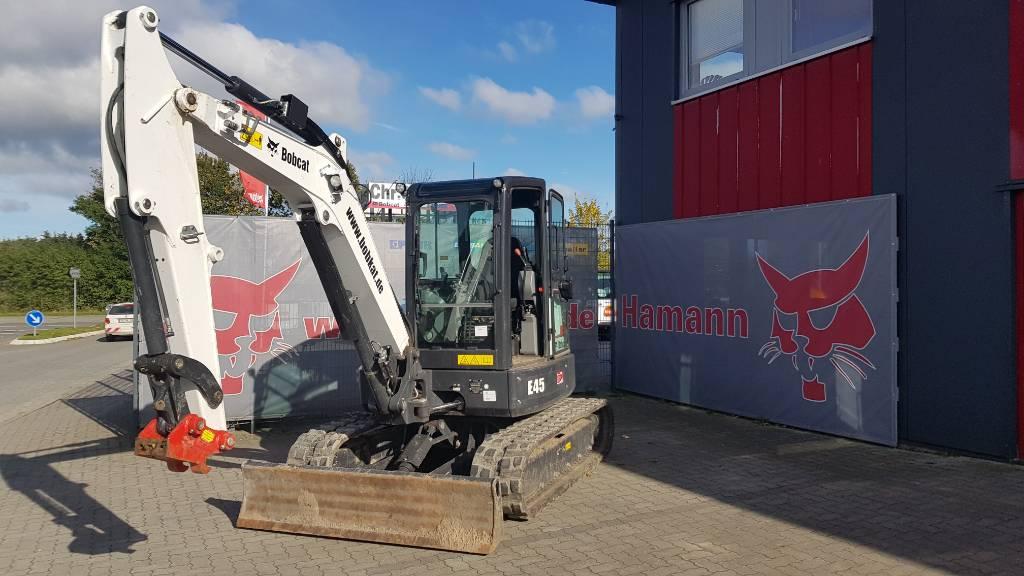 Bobcat E 45, Mini digger, Construction Equipment