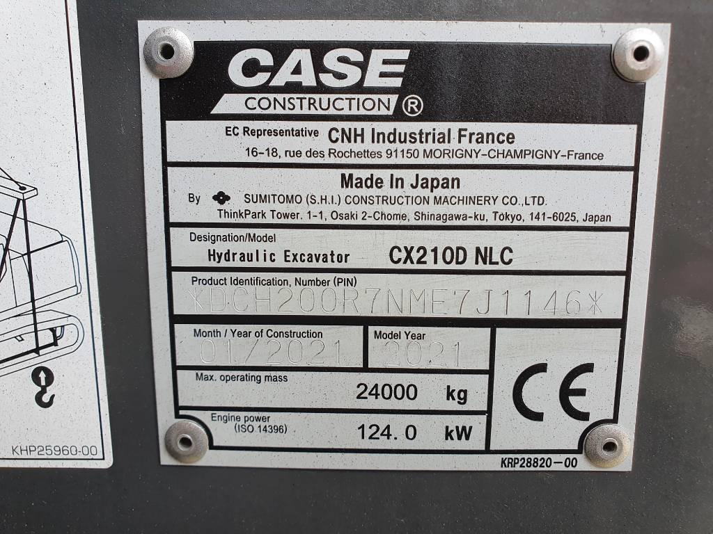 CASE CX 210 D, Bagri goseničarji, Gradbeništvo