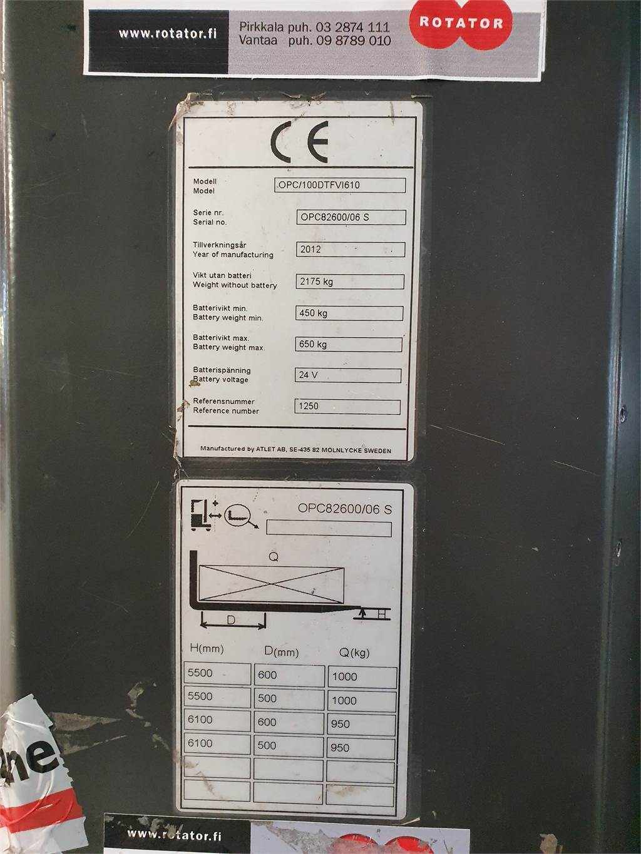 Atlet OPC100, High lift order picker, Material Handling