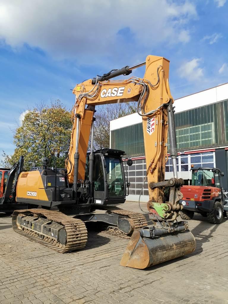 CASE CX210DLC Verstellausleger, Raupenbagger, Baumaschinen