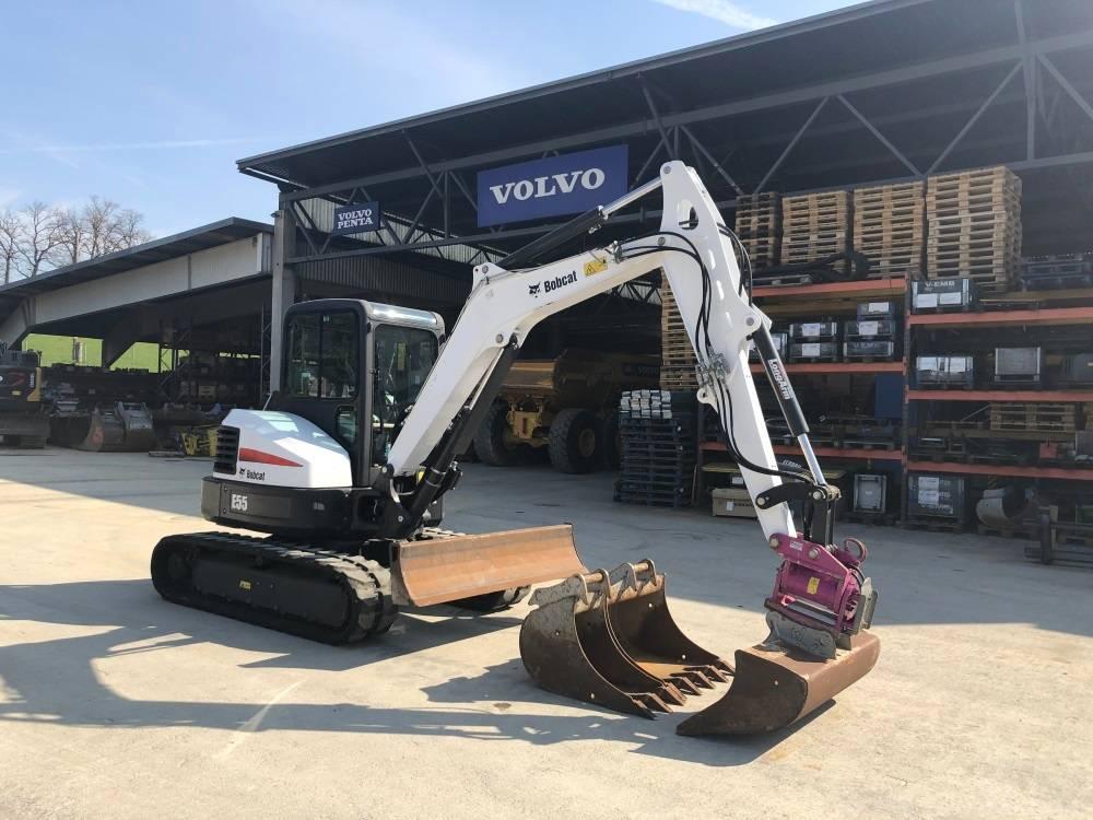 Bobcat E 55, Mini Excavators <7t (Mini Diggers), Construction Equipment
