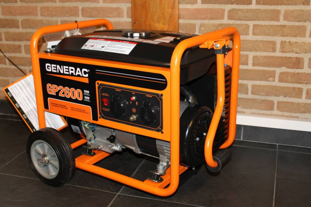 Generac GP2600, Petrol Generators, Construction