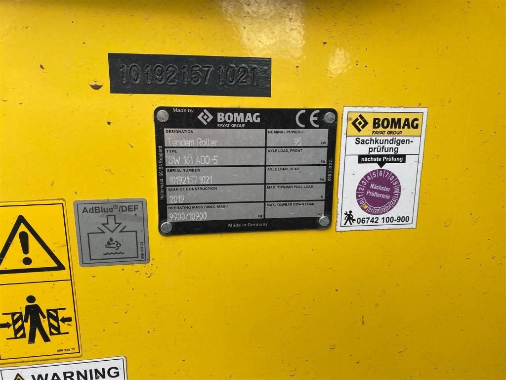 Bomag BW 161 ADO-5, Tandemwalzen, Baumaschinen