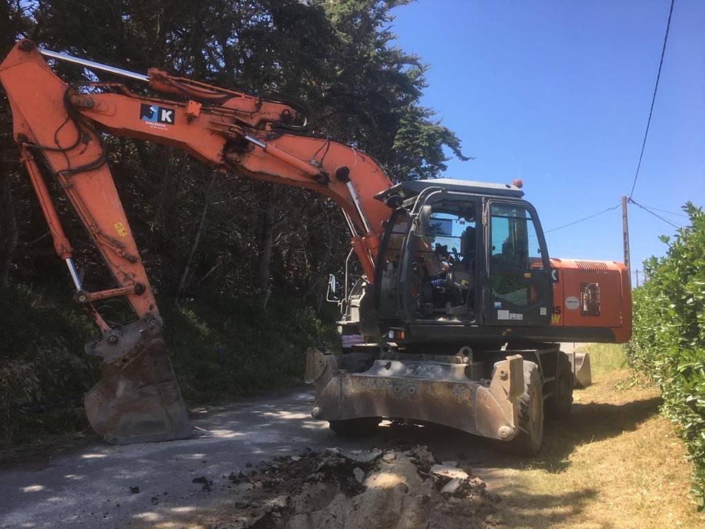 Hitachi ZX 190 W-3, Wheeled Excavators, Construction Equipment