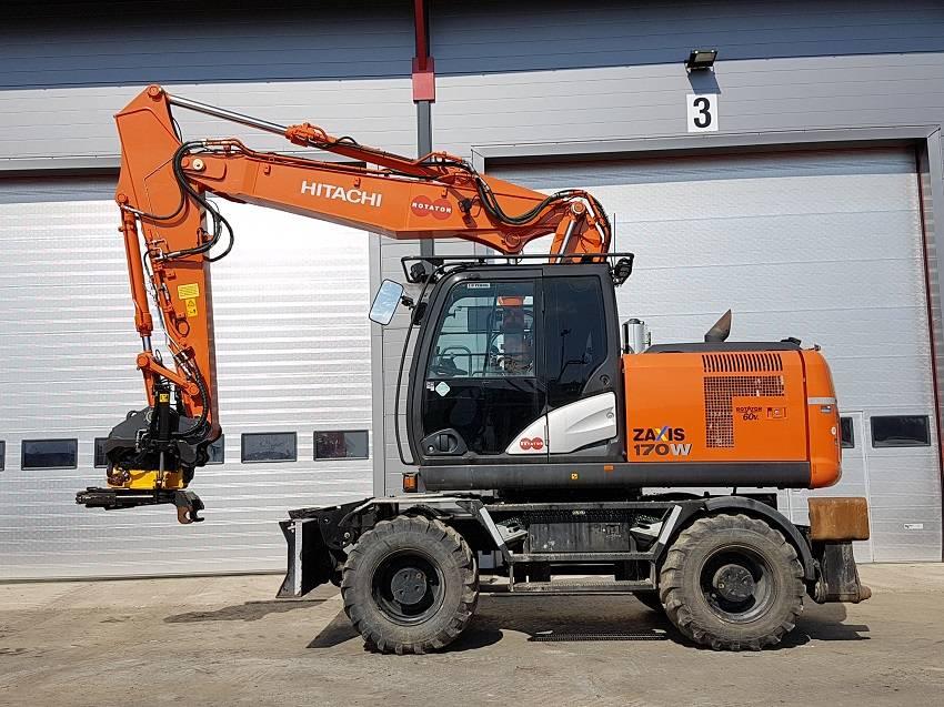 Hitachi ZX 170 W-5 B, Wheeled excavators, Construction