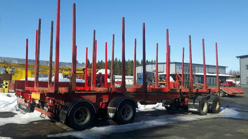 Riiko 4-akselinen, Puuperävaunut, Kuljetuskalusto
