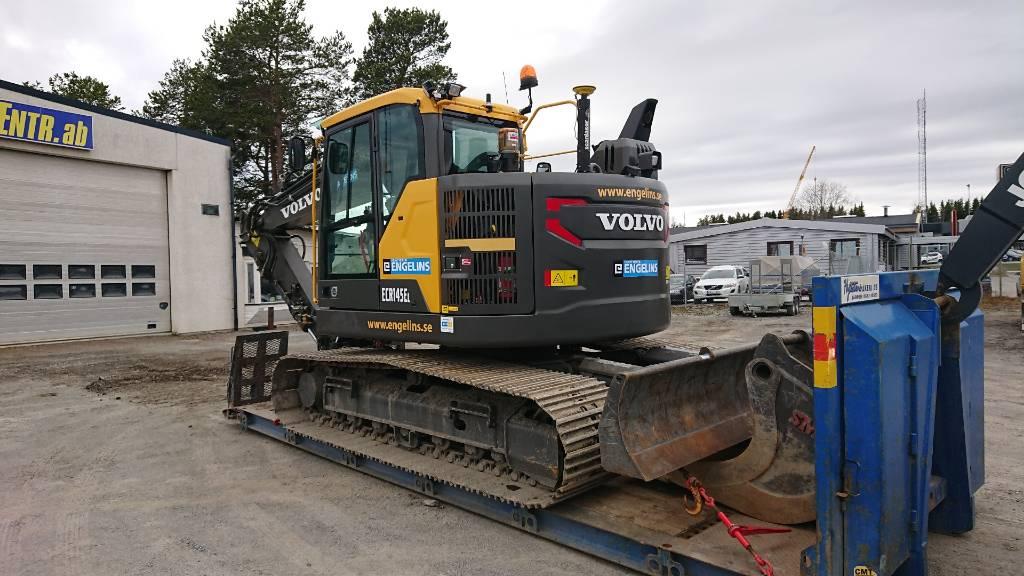 Volvo ECR 145 EL, UTHYRES, Bandgrävare, Entreprenad