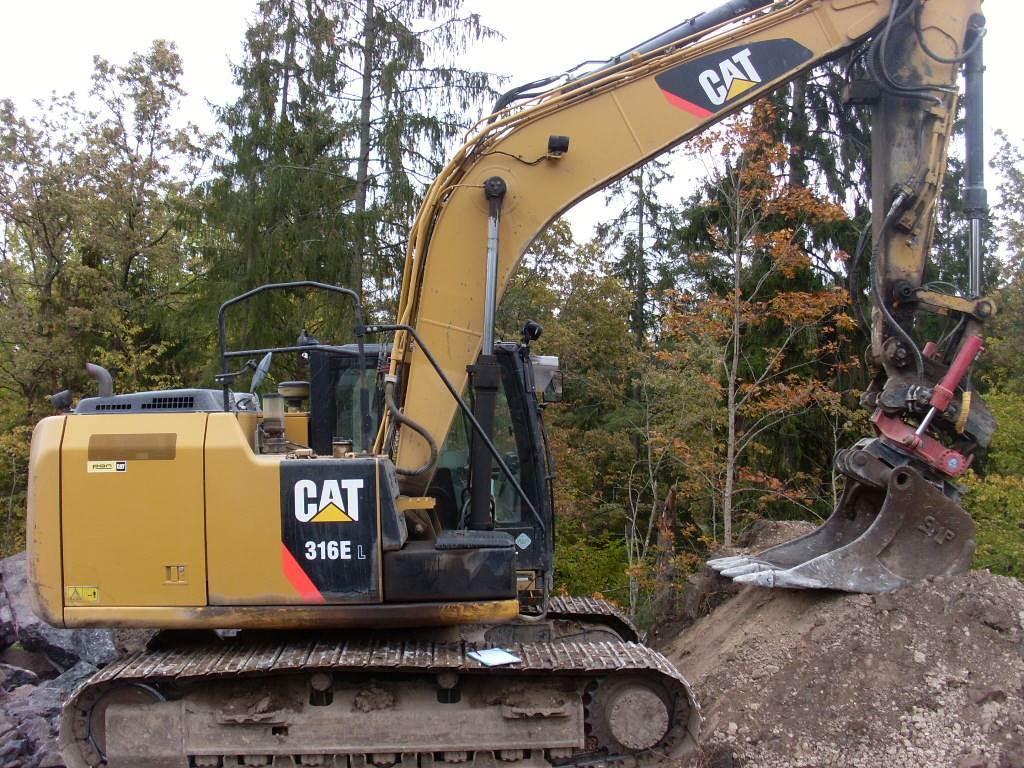 Caterpillar 316 EL, Bandgrävare, Entreprenad