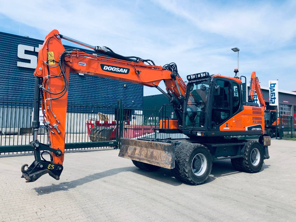 Doosan DX160W-5 Mobiele graafmachine, Wheeled Excavators, Construction Equipment