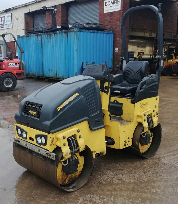 Bomag BW 100 ADM-5, Twin drum rollers, Construction