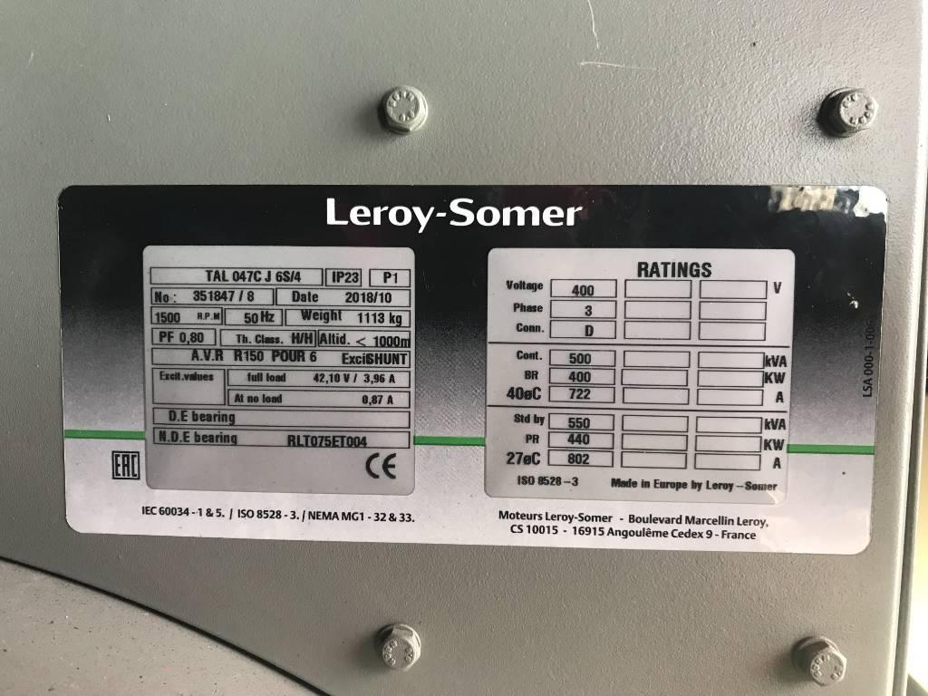 Scania DC13 - 550 kVA Generator - DPX-17953, Diesel generatoren, Bouw