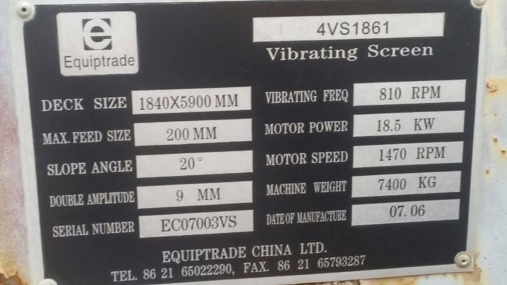 [Other] Sorteringsverk Equiptrade 4VS1861, Sorteringsverk, Entreprenad